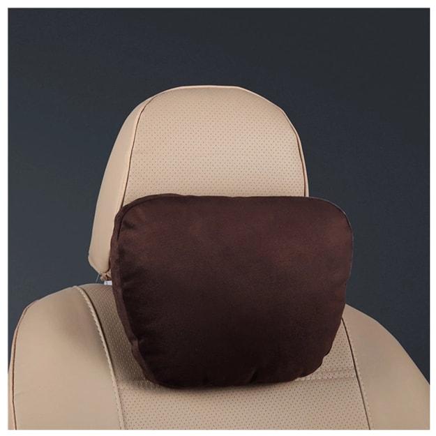 商品详情 - 中国直邮奔驰汽车头枕S级迈巴赫颈椎枕头车用座椅脖靠垫靠枕护颈枕摩卡色一件 - image  0
