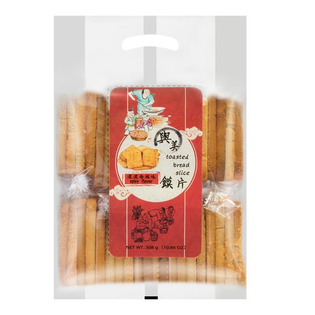 Product Detail - YUMEI Toasted Bread Slice Spicy Flavor 308g - image 0