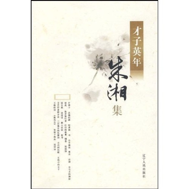 商品详情 - 才子英年系列:朱湘集 - image  0