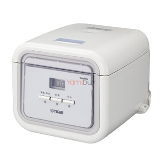 TIGER Electric Rice Cooker Warmer with Steaming Basket 3 Cups White JAJ-A55U