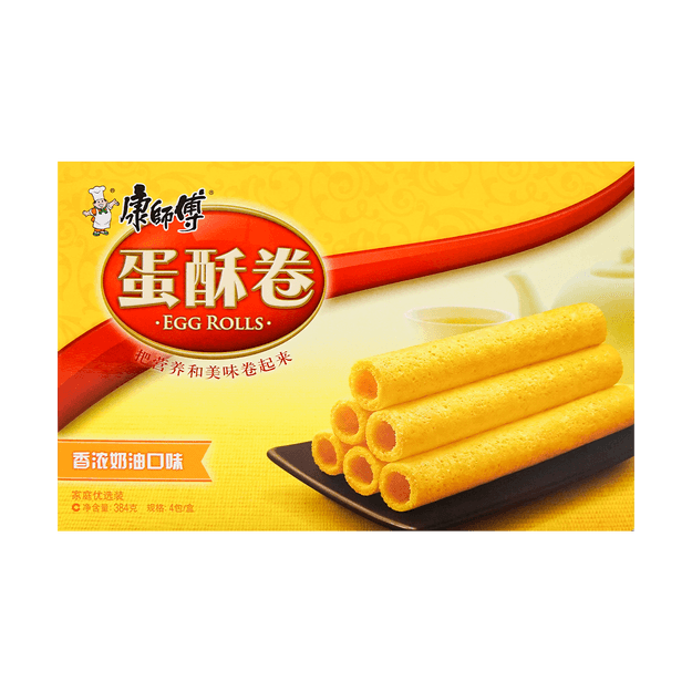 Product Detail - KANGSHIFU Crispy Biscuit Roll (Rich Cream) 384g - image 0