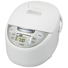 TIGER 4in1 Micom Rice Cooker Steamer and Slow Cooker 10 Cup (Uncooked) JAX-R18U Made in Japan