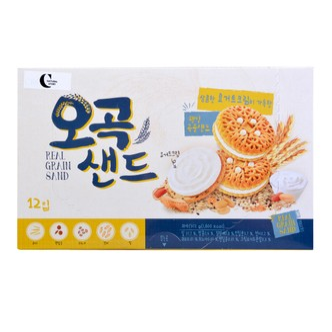 韩国CROWN 酸奶夹心五谷杂粮饼干 372g