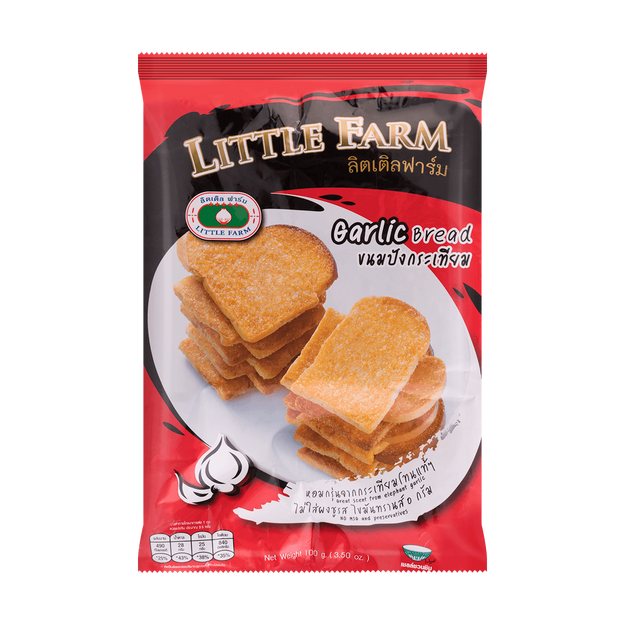 Product Detail - LITTLE FARM Garlic Bread 100g - image 0