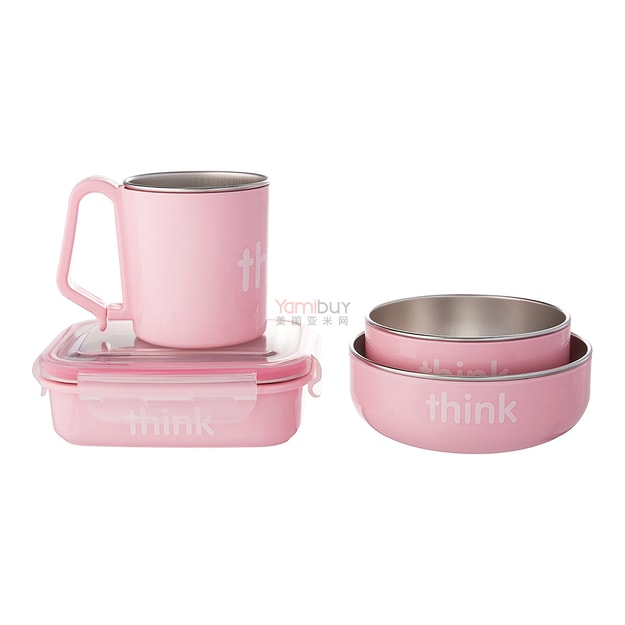 Product Detail - THINKBABY The Complete BPA Free Feeding 4pcs Set #Pink - image 0