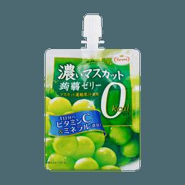 日本TARAMI 0卡路里 吸吸蒟蒻果冻 绿葡萄味