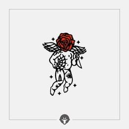 @BECOME Original Tattoo Stickers Rebellious Cupid Three Piece