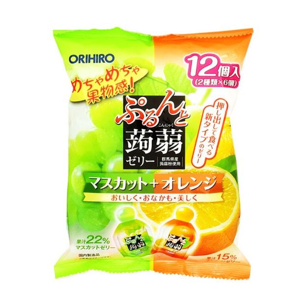 Product Detail - ORIHIRO Puru\'s Konnyaku Jelly Muscat and Orange Flavour 12pcs - image  0