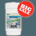 美国NuFargo MilCal补骨乳钙片 成人儿童小孩咀嚼片 无糖高吸收率牛奶钙镁 骨骼关节腿抽筋的营养保健60粒入