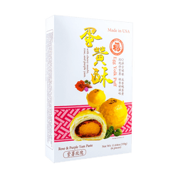 FORTUNE BAKERY Egg Yolk Puff Rose & Purple Yam Paste 329g 6pc