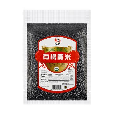 BIG GREEN Organic Black Rice 454g Two Versions