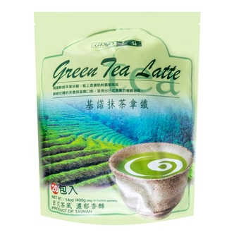 GINO Green Tea Latte 20 Bags 400g