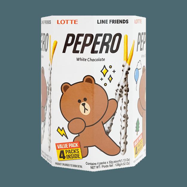 商品详情 - 韩国LOTTE乐天 PEPERO 白巧克力脆棒 圆筒装  128g - image  0