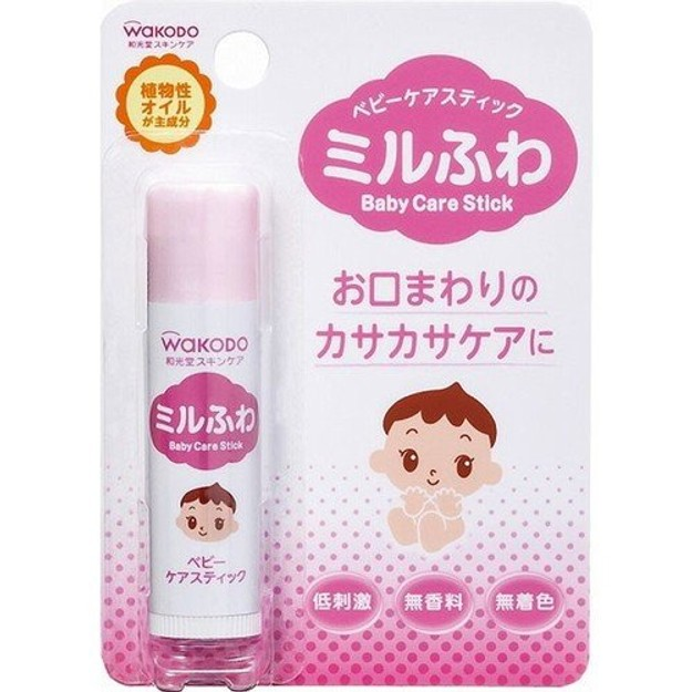 商品详情 - 【日本直邮】日本WAKODO和光堂婴儿低敏植物保湿滋润唇膏 5g - image  0