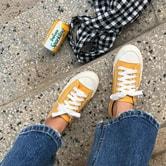 【韩国直邮】CHERRYKOKO 休闲简约运动鞋 黄色 38