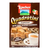 LOACKER Quadratini Bite Size Wafer Cookies Express Flavor 220g