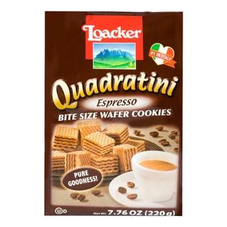 意大利LOACKER莱家 QUADRATINI 华夫小威化 香醇咖啡味 220g