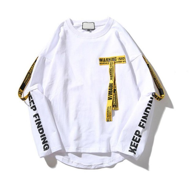 Product Detail - NIEPCE Caution Signs Lightweight Sweater White XS 1 Piece - image 0