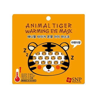 SNP Animal Tiger Warming Eye Mask 1pc