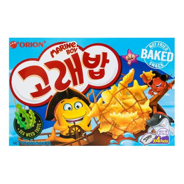 商品详情 - 韩国ORION好丽友 好多鱼松脆小饼干 鲜香海苔味 160g - image  0