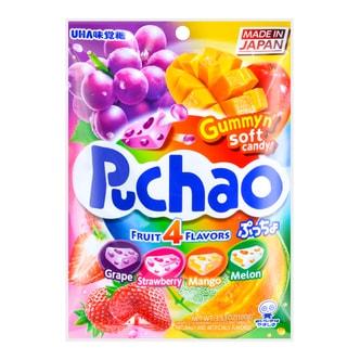 日本UHA悠哈味觉糖 4味果汁碳酸糖中糖夹心软糖 100g