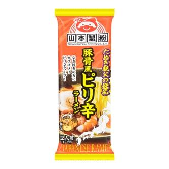 日本 山本制粉 豚骨拉面  辣味 2人份 220g