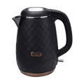 AROMA Double Wall 316 Premium Grade Stainless Steel Electric Water Kettle Black 1.2L AWK-3000B