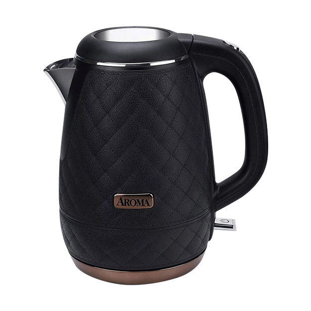 Product Detail - AROMA Double Wall 316 Premium Grade Stainless Steel Electric Water Kettle Black 1.2L AWK-3000B - image 0