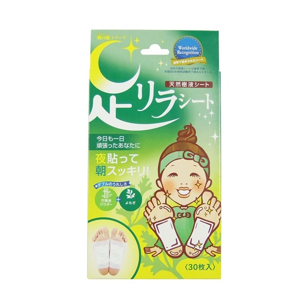 Product Detail - ASHIRIRA Detox Foot Patch- Wormwood 30 pcs - image 0