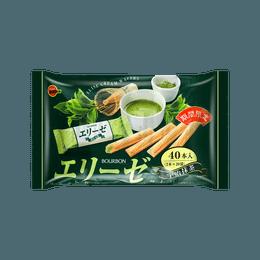 日本BOURBON波路梦 抹茶奶油威化饼 144g