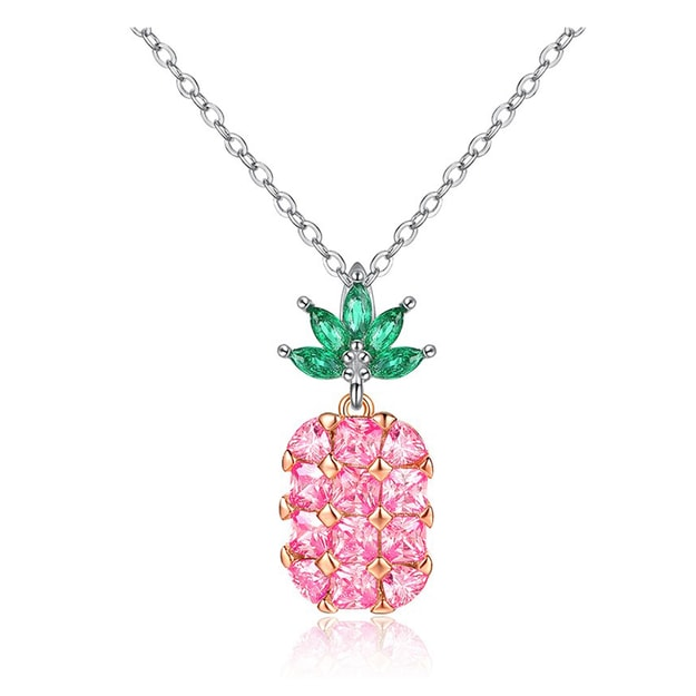 Product Detail - ARIEL  Summery Pineapple Necklace (pink) - image 0