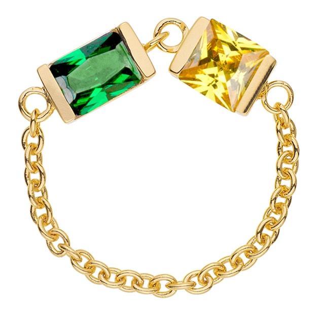 Product Detail - DE YEEN Ruby Wonder Bi Color Ring  #Yellow&Green 1pc - image 0