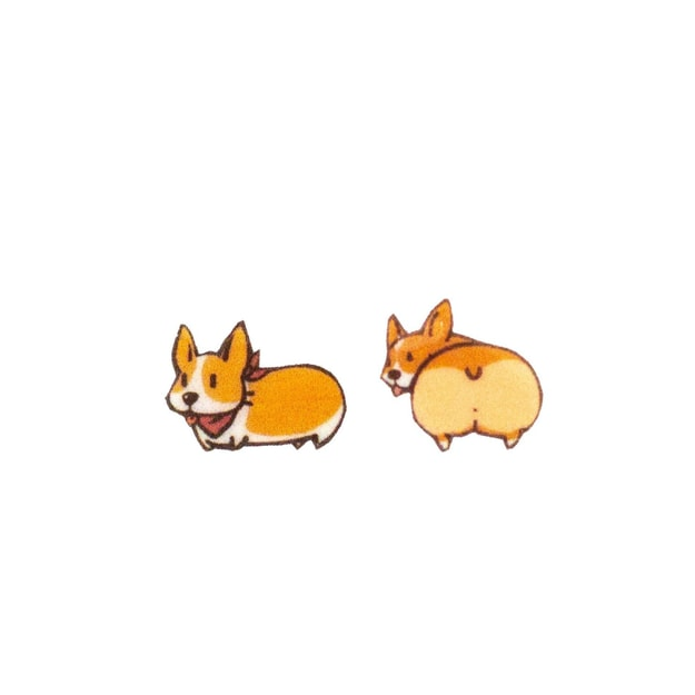 Product Detail - NAYOTHECORGI Stylish Corgi Plastic Ear Studs #one pair# - image 0