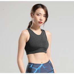 RUNNING STONE Seamless Ventilated Sports Bra Black S