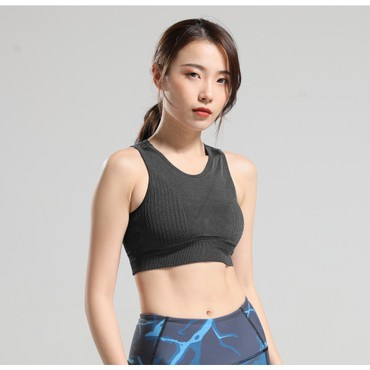 RUNNING STONE Seamless Ventilated Sports Bra Black M
