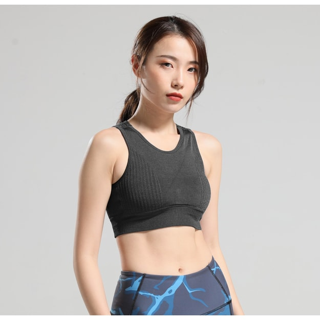 Product Detail - RUNNING STONE Seamless Ventilated Sports Bra Black S - image 0