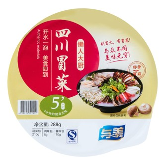 与美 懒人大厨 四川即食冒菜 豚骨菌菇味 288g