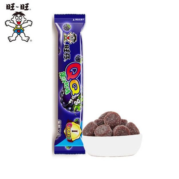 商品详情 - [中国直邮] WANGWANG旺旺旺仔QQ果汁软糖38g黑莓子味 - image  0