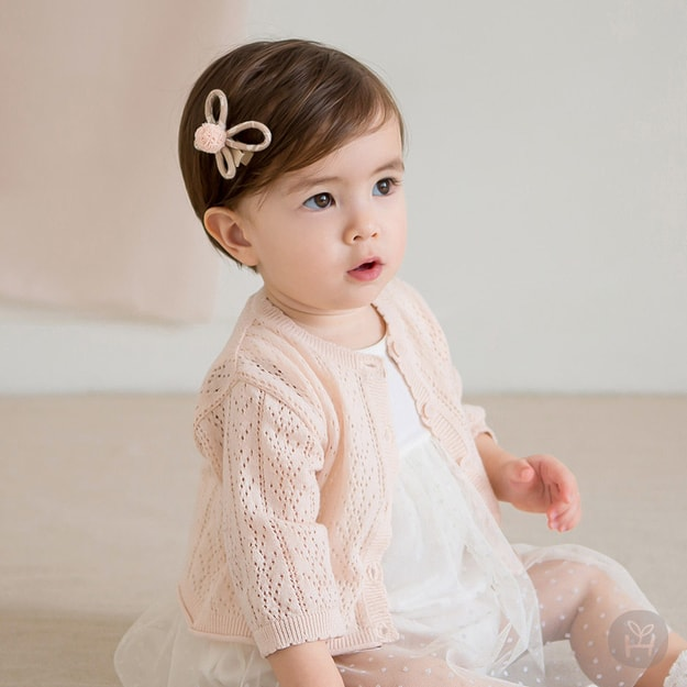 Product Detail - HAPPY PRINCE Are knit cardigan Pink 18-24 Months - image 0