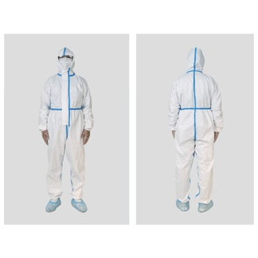 Disposable Personal Protective Gowns Non-woven Farbric WaterProof&Breathable Cloth XL