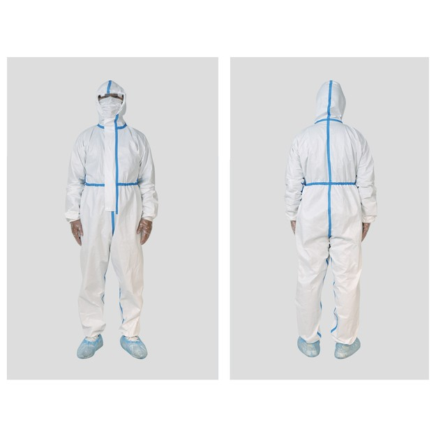 Product Detail - Disposable Personal Protective Gowns Non-woven Farbric WaterProof&Breathable Cloth XL - image 0