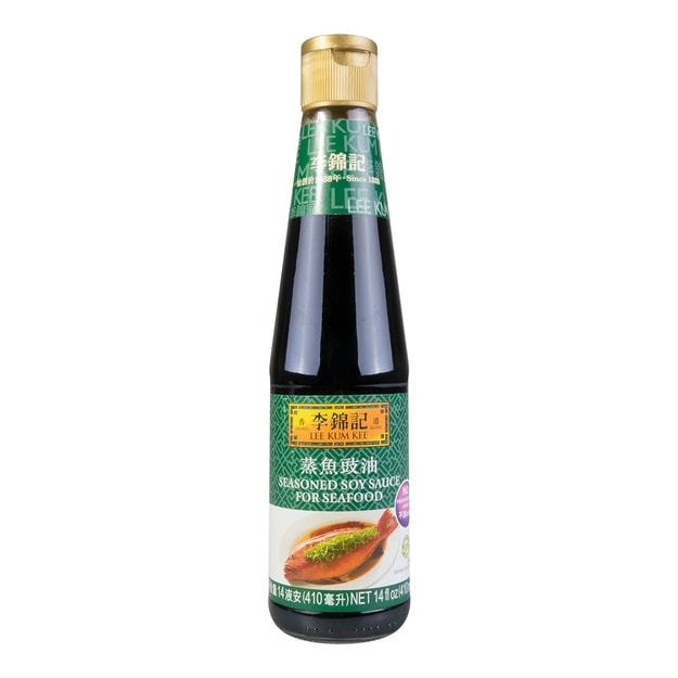 Product Detail - LEE KUM KEE Seasoned Soy Sauce For Seafood 410ml - image 0