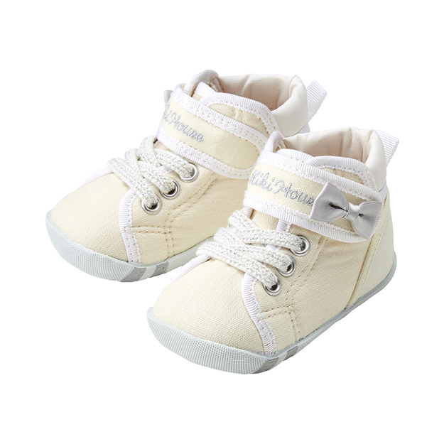 商品详情 - MIKIHOUSE  简约可爱带迷你蝴蝶结一段婴儿鞋  白色 13cm - image  0