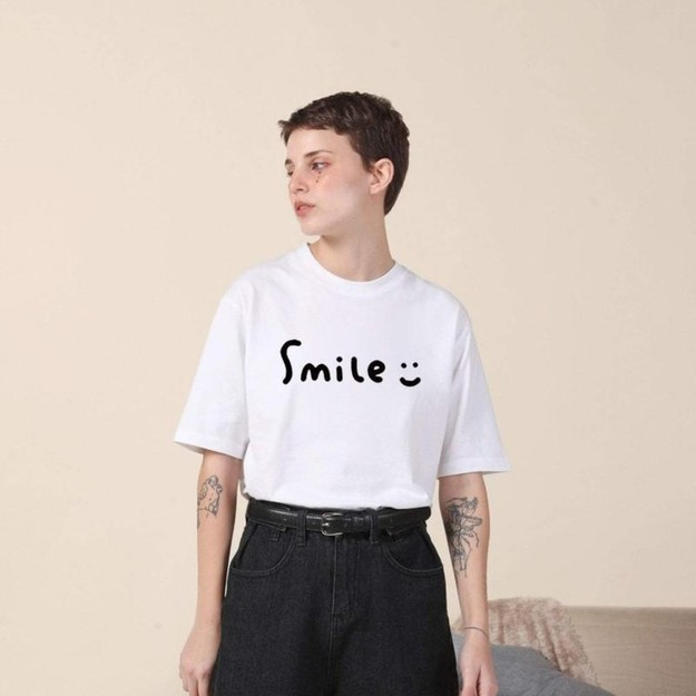 Product Detail - PROD SMILE SHORT SLEEVE T-SHIRT-WHITE-XL - image  0