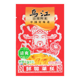 WUJIANG Shredded Crispy Preserved Mustard 80g