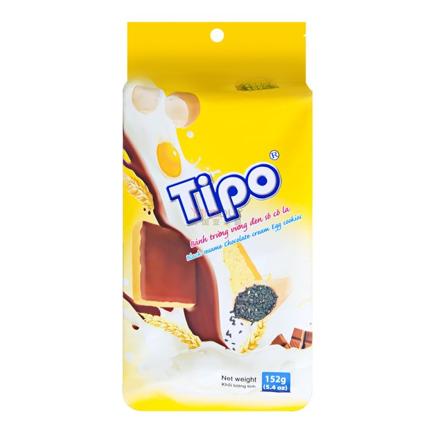 商品详情 - 越南TIPO 黑巧克力芝麻面包干 152g        - image  0