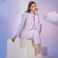 网易严选女士极光雪怪系列家居服套装 紫色渐变*L