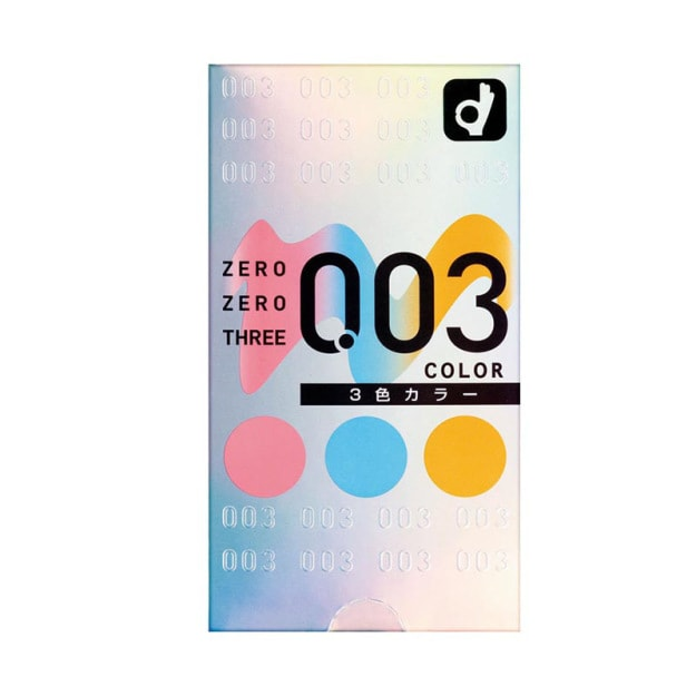 Product Detail - OKAMOTO 003 Three Color Condoms 12 Packs - image  0