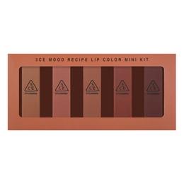 3CE Mood Recipe Lip Color Mini Kit 5 Pieces
