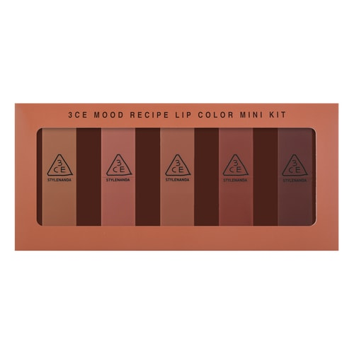 3CE Mood Recipe Lip Color Mini Kit 5 Pieces